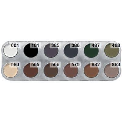Grimas Eyeshadow/Rouge, 12er-Palette matt - UX, porducts-uz.jpg