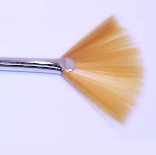 Fächerpinsel, goldfarbiges Synthetik - 19 cm