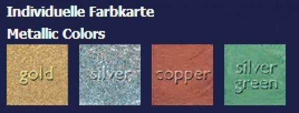 Kryolan Aquacolor Palette - Refill 4ml Metallic-Farben