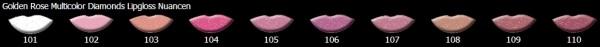 Golden Rose Beauty Diamonds Volume Lipgloss, versch. Farben - 8ml