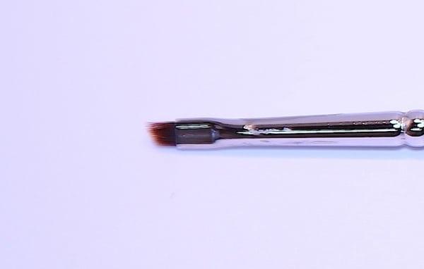 Augenbrauenpinsel, Konturen, schräg, mahagonyfarb. Synthetik - 16 cm